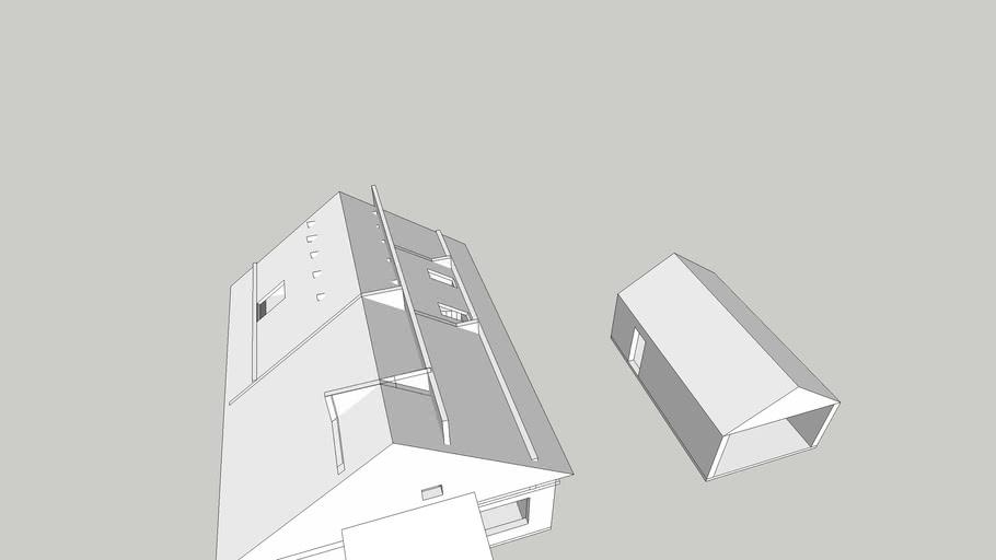 Modern house. 9.5x12.5m. Draft