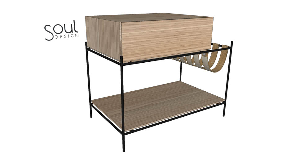 Criado Mudo Hélio - CM06 - Soul Design Móveis