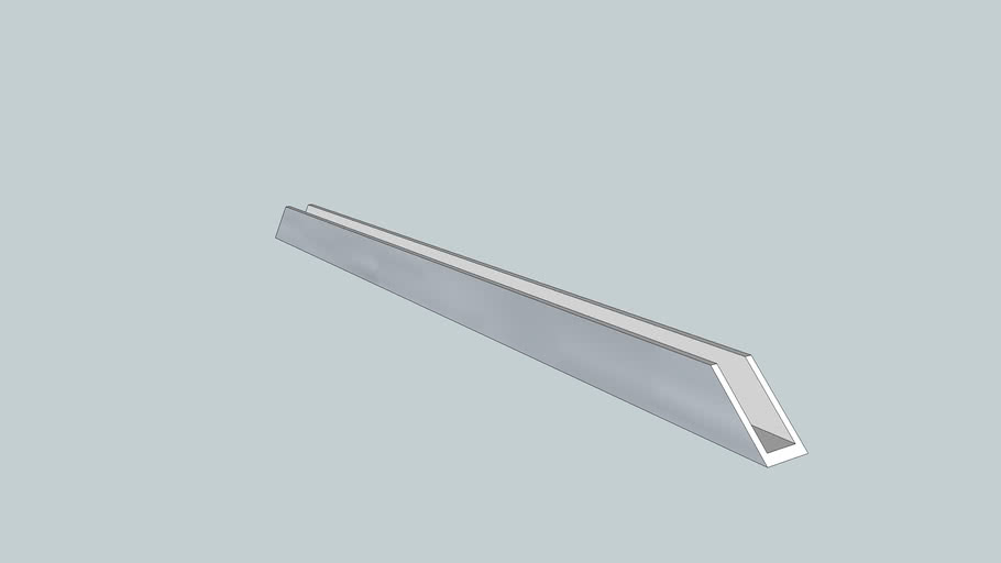 U-Profil 19.5mm x 10mm x 2.2mm 45° an beiden Enden