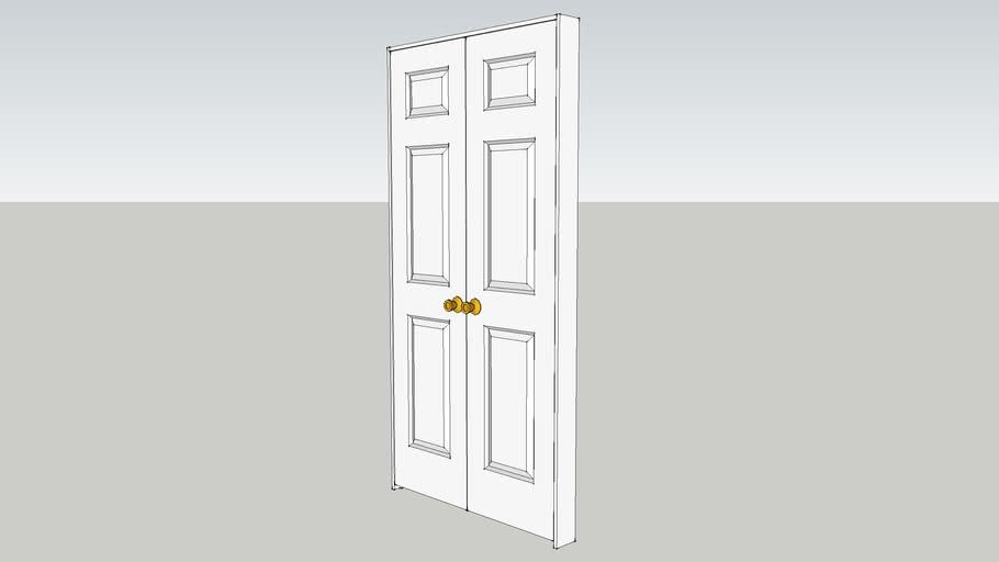 """20"""" Three Panel Double Door"""