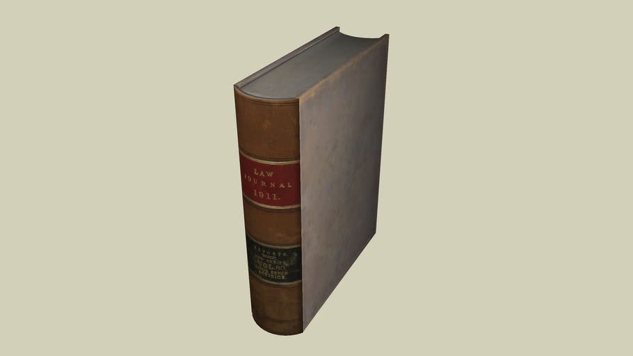 LEATHER BOUND BOOK-LAW REPORTS 1911 - Part 1 of 3-jsw0302