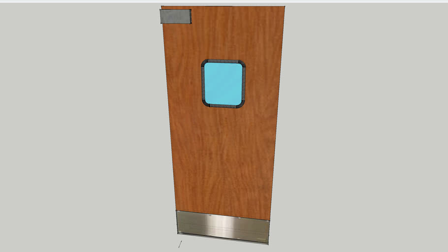 Restaurant Swinging Kitchen Door | 3D Warehouse
