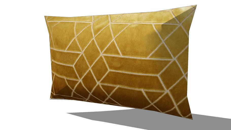 Coussin graphique jaune moutarde 30x50cm ZOLA REF 167465 PRIX 17.99€