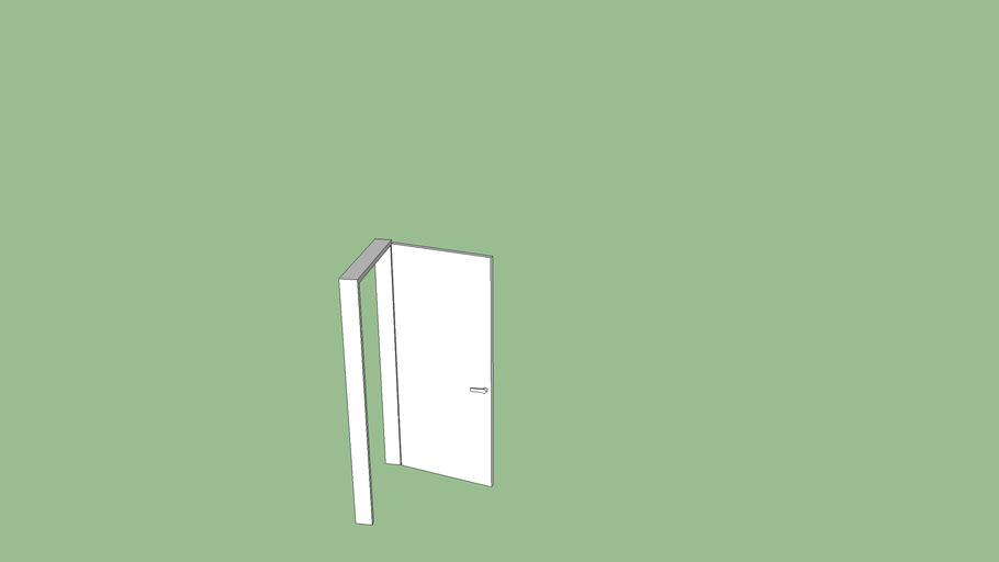 Simple white internal door