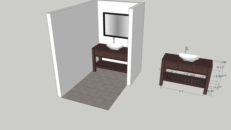 """56"""" bathroom Vanity - custom build"""