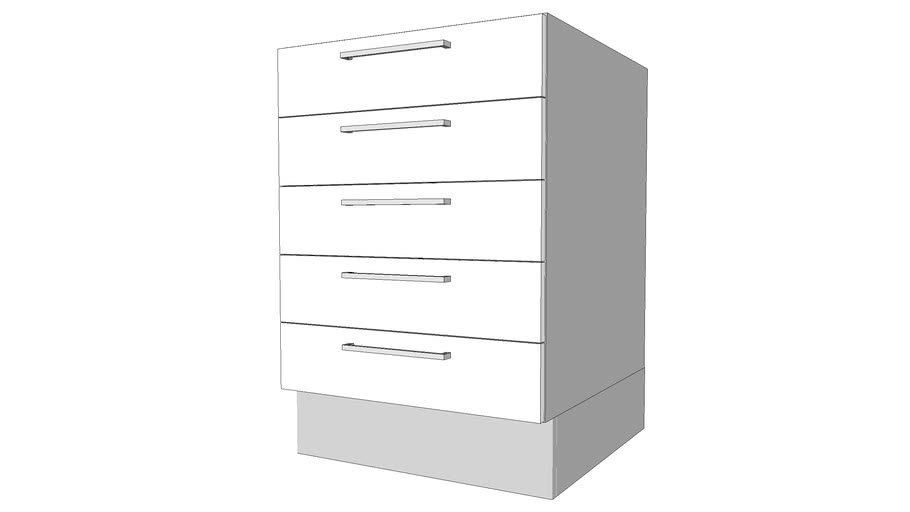 Base Cabinet W 5 Short Drawers Multi Doors Styles Dynamic