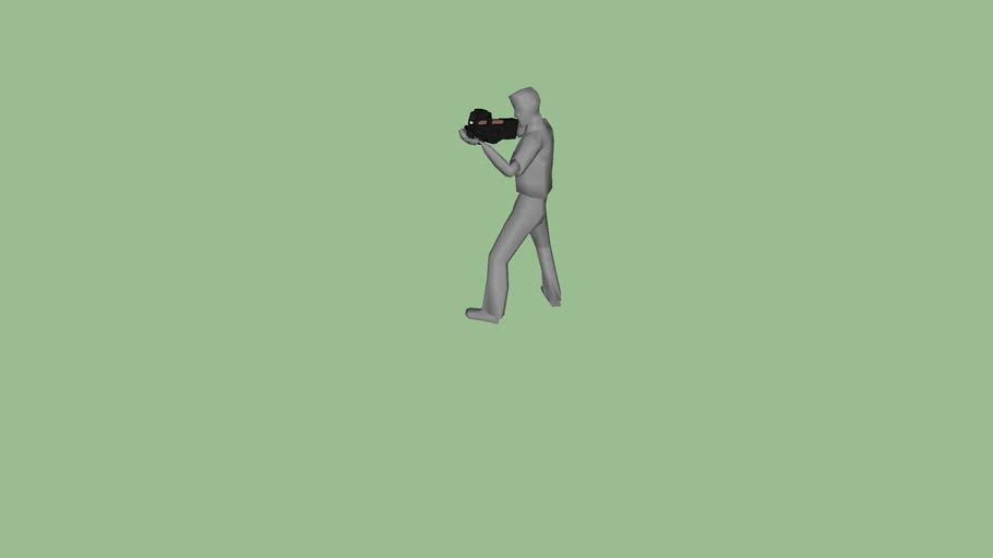 Man holding an ES P90 SMG