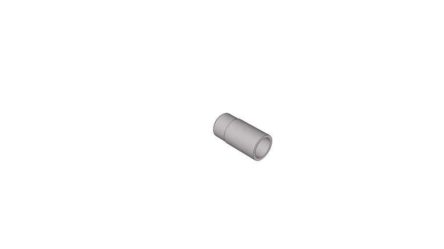 Threaded Nipple for welding, Aluminium acc. to EN 573-3, EN AW 6060, with Whitworth-Pipe Thread
