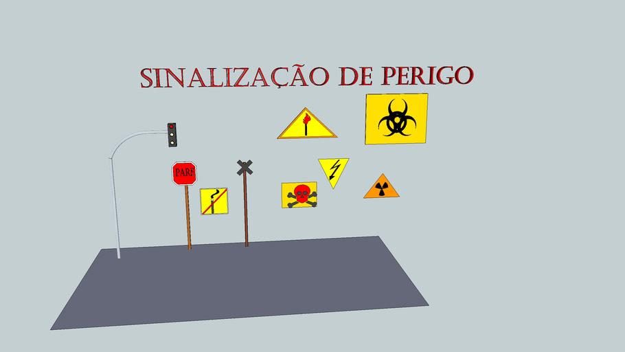 sinalização de perigo