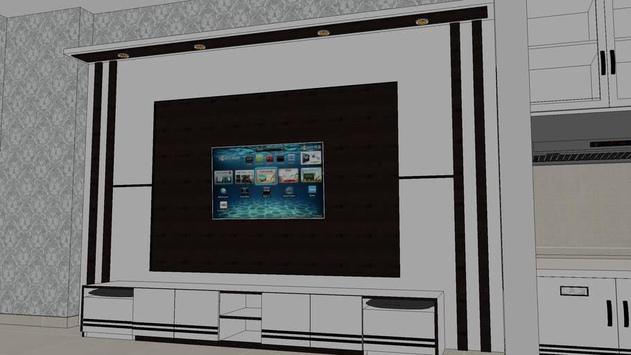 Kitchen set minibar & backdrop tv
