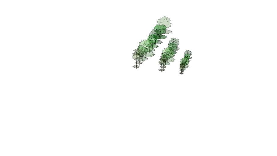 Árvores 2D com sombra
