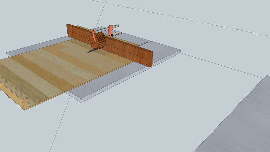 simple wooden gear cutting jig
