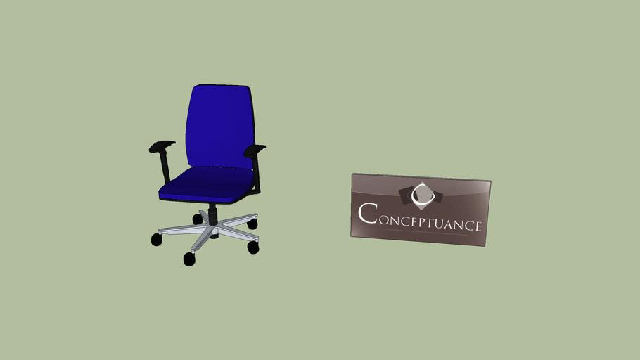 chaise bureau Réf: 40501
