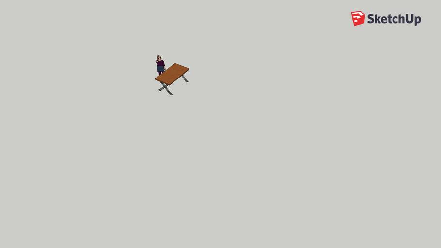 Massivholz Industrial-Schreibtisch DIY Kirsche