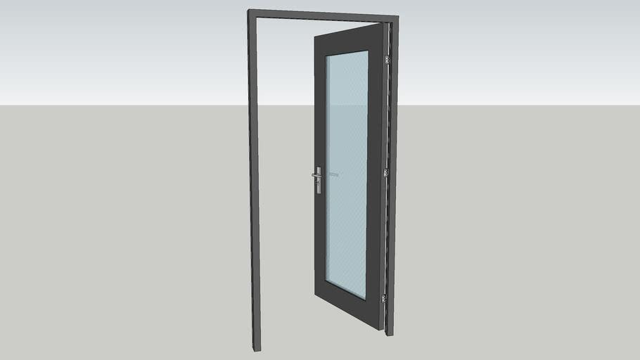 Puerta gris 2*0.9