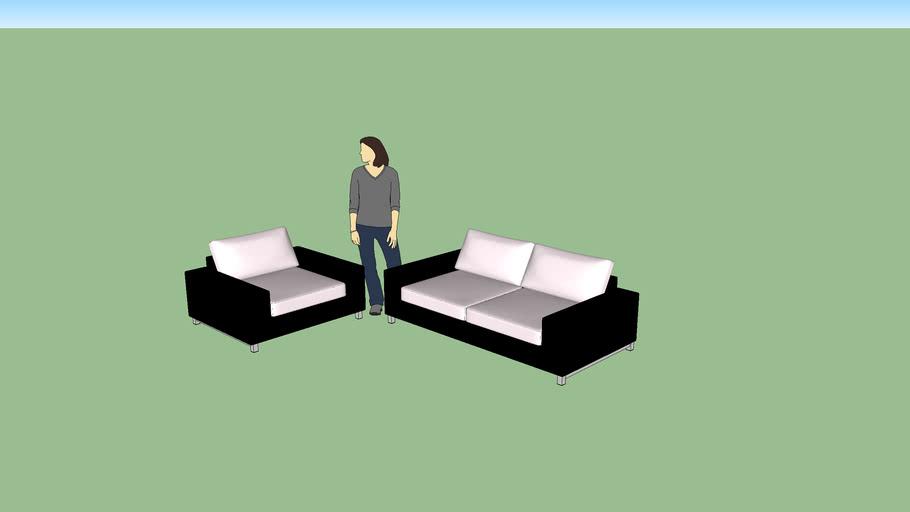 Poltrona com sofa