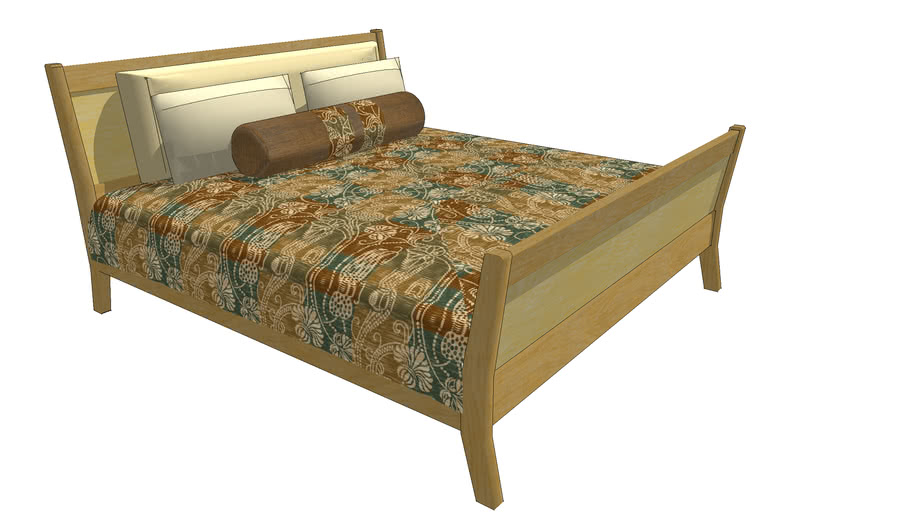 Sleigh-bed