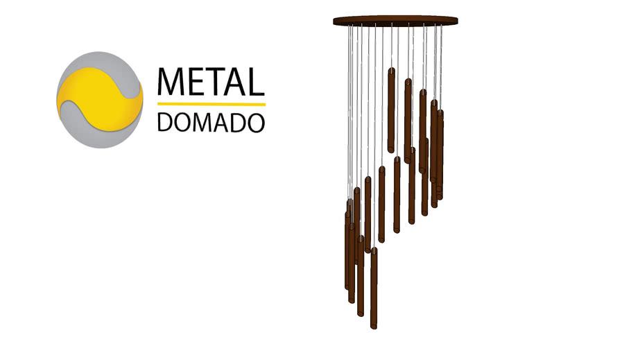 Pendente Metaldomado Tub Chanfrado