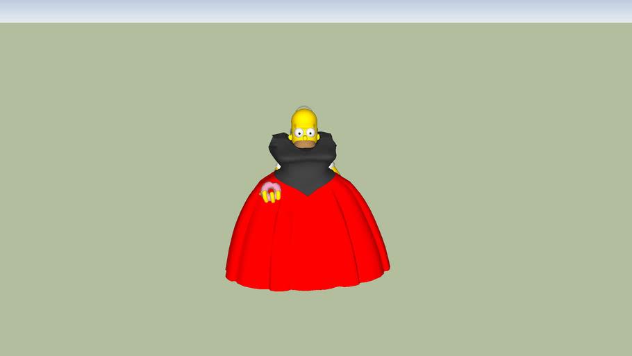 Homer in dress