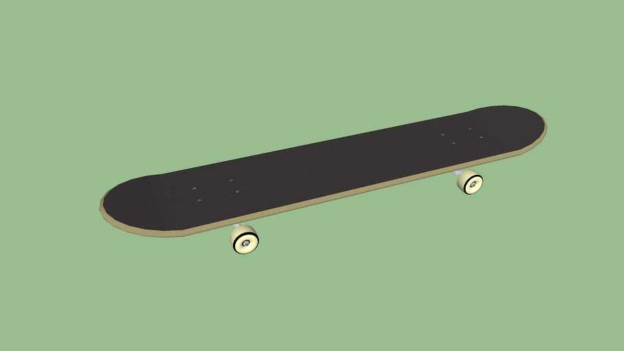 Plain Skateboard template | 3D Warehouse