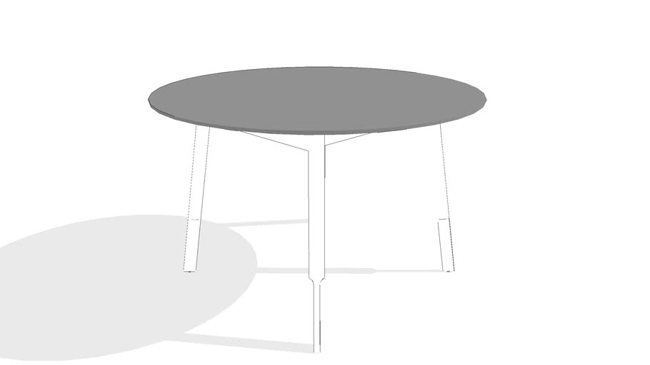Bracket Dining Table - Round by Gus* Modern