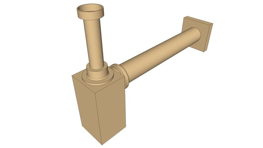 DOCOL - Sifão para banheiro Square ouro escovado 636072