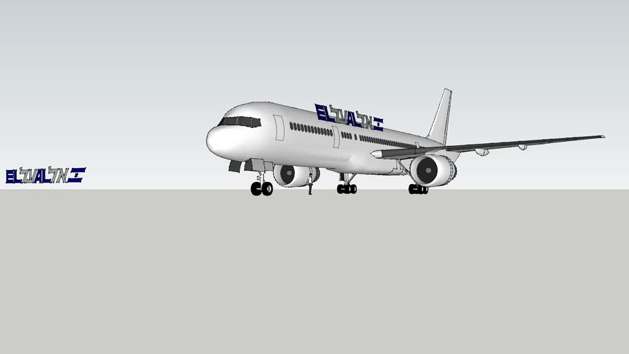 Attempt to put EL-AL logo on 757 ( anyone want to try ? )
