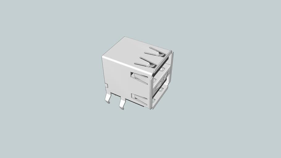 USB Dual Receptacle