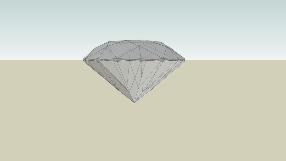 2 Carat Diamond 10x Scale