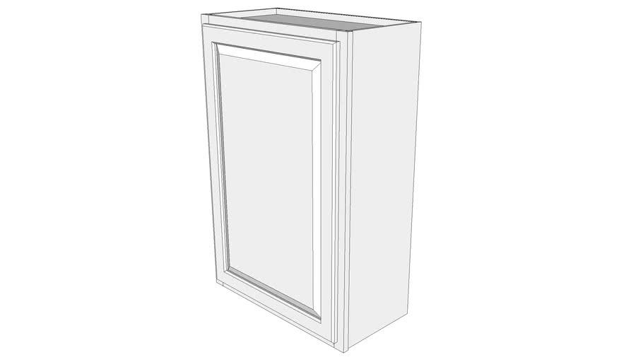 """Briarwood Wall Cabinet W2436 - 12"""" Deep, One Door"""