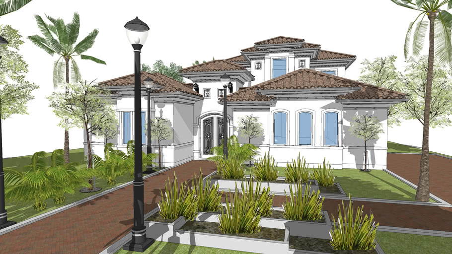 Courtyard Mediterranean House