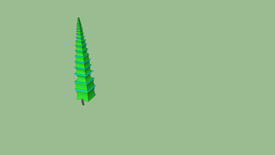 Green and blue Pagoda tower: DATA 7