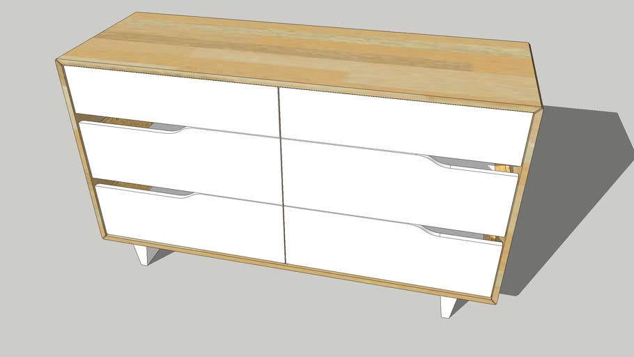 IKEA MANDAL 6 drawer dresser