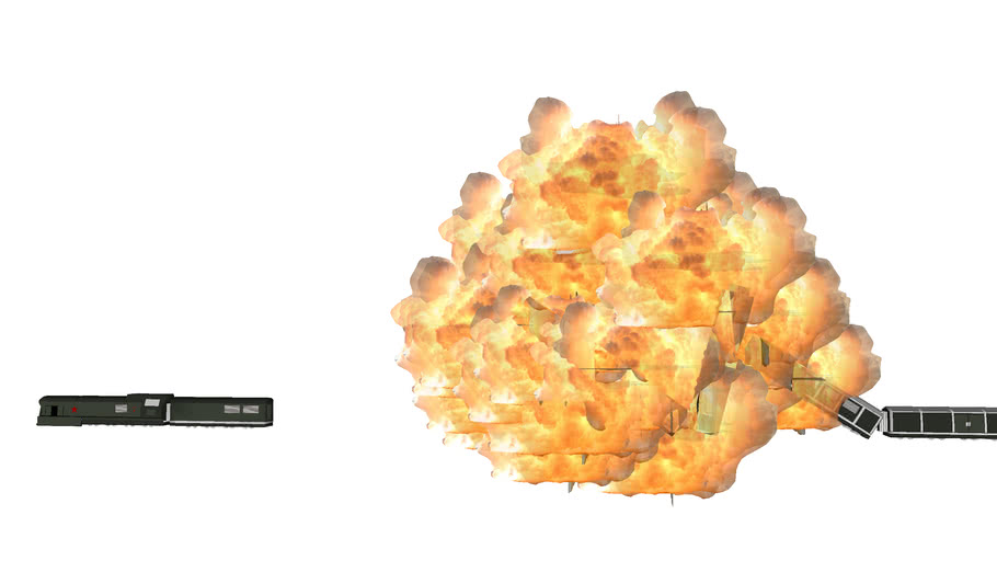 goldeneye train explosion