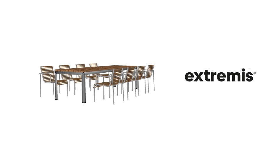 Extempore Standard Table 270 Cm 8 Chairs 3d Warehouse