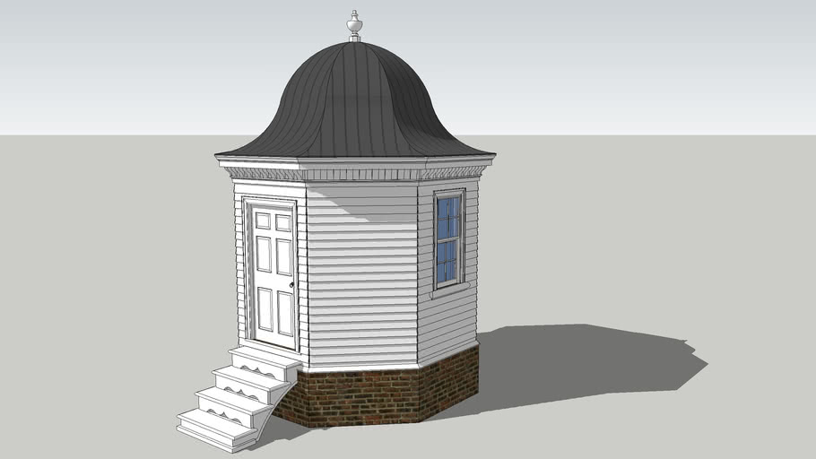 Octagonal Gardenhouse with Bell Roof