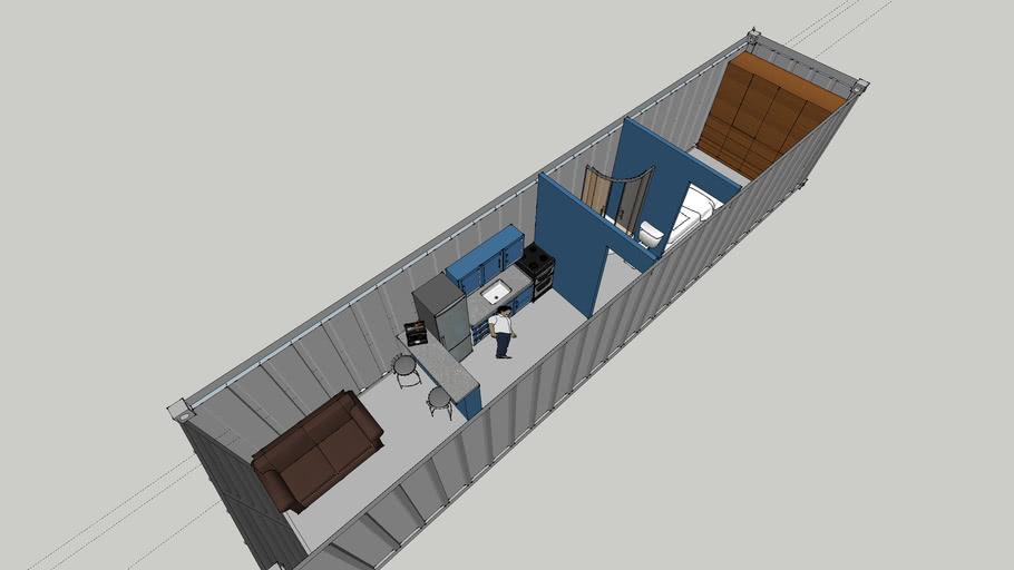 casa contenedor 12x2.44m