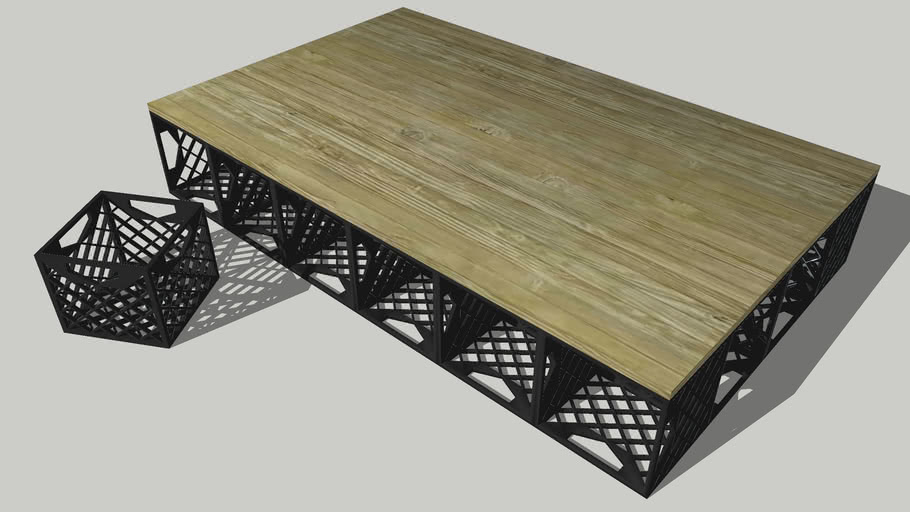 Milk Crate Bed Base