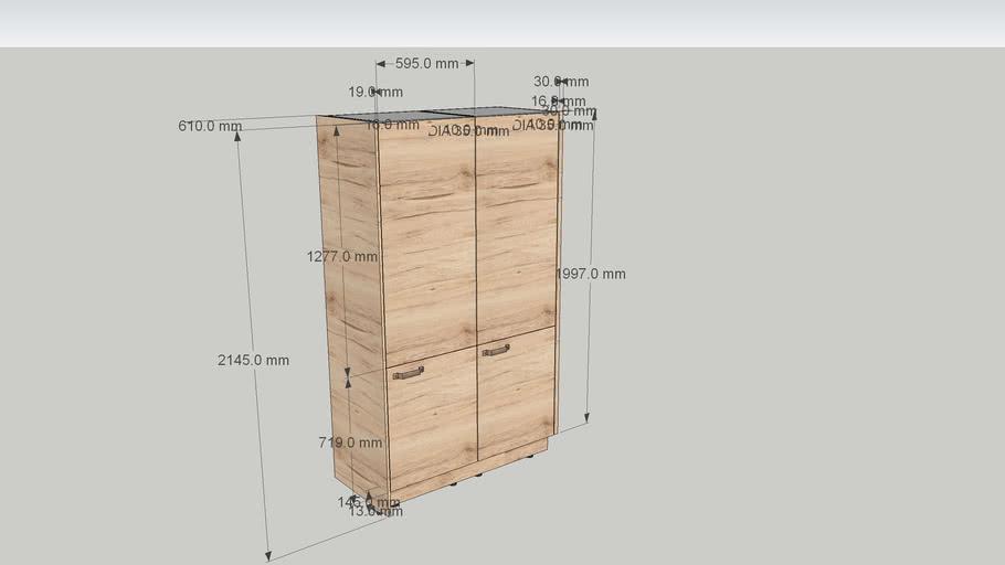 Nobilia Integrated larder fridge tall unit