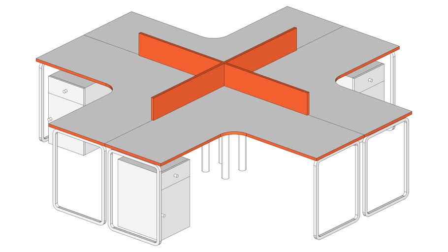 System 10'x10' white/orange