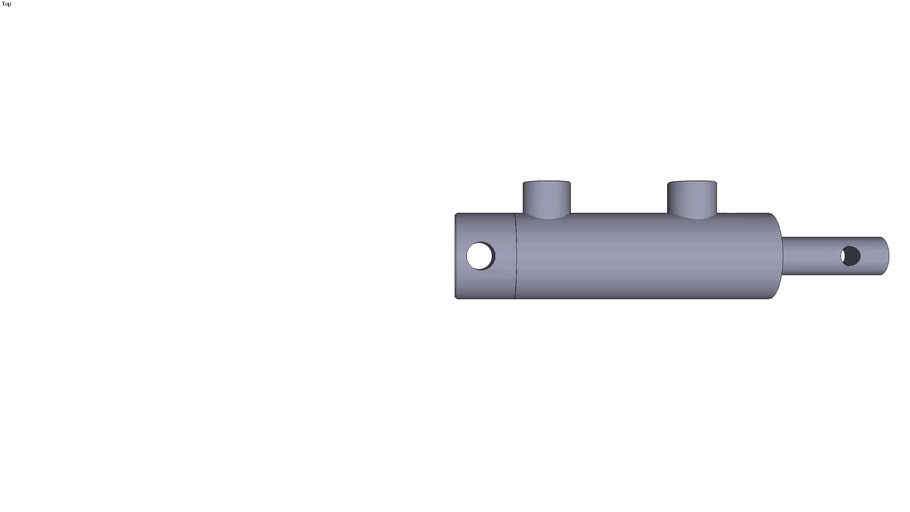 Double action Cylinder with cross hole on.../ 20 Stroke 0 mm Mounting dimension 190 mm