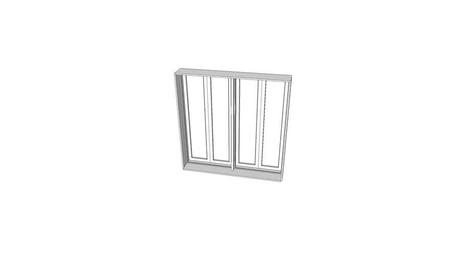 4kstudio 6x6 Double Casement Window