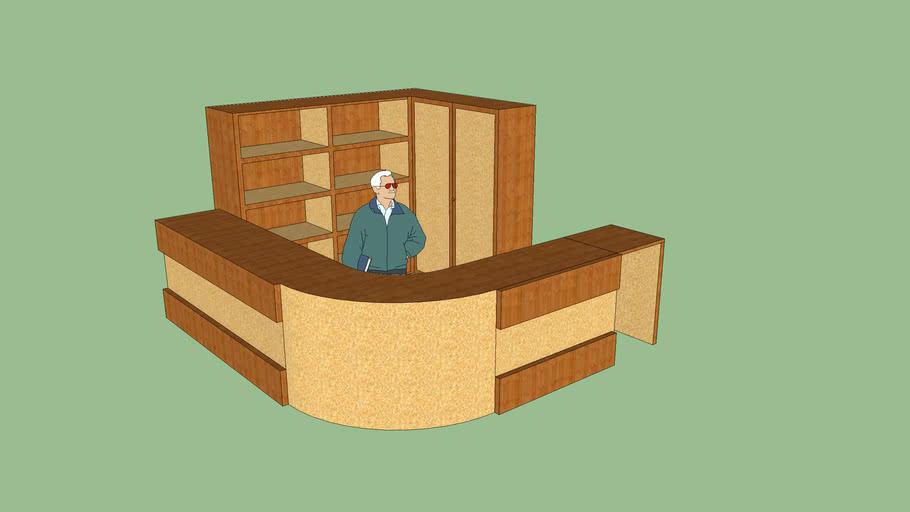 estante con mostrador