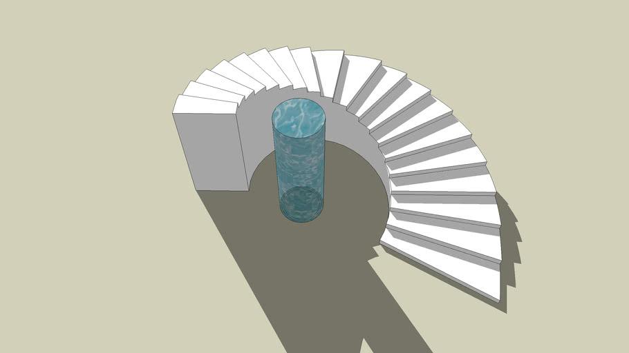 monolithic spiral stair