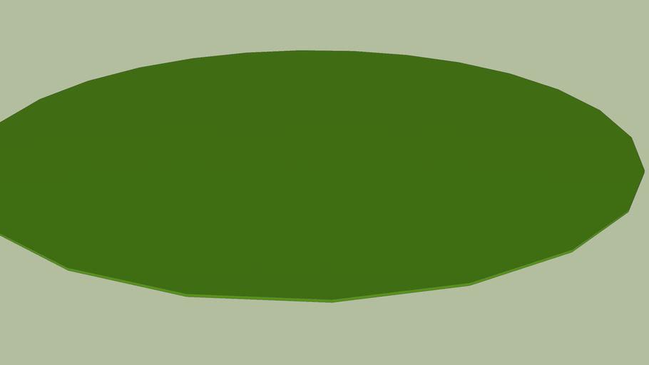 Round grass deck