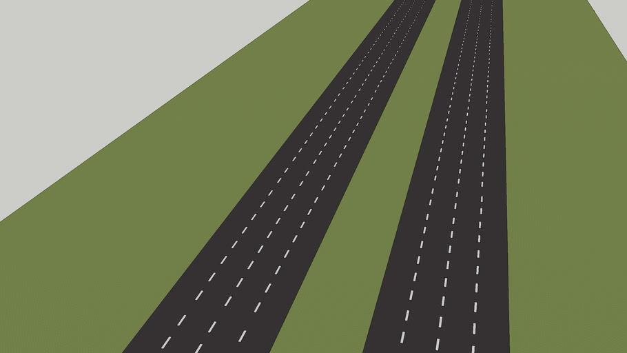 4 lane highway stretch (version 1)