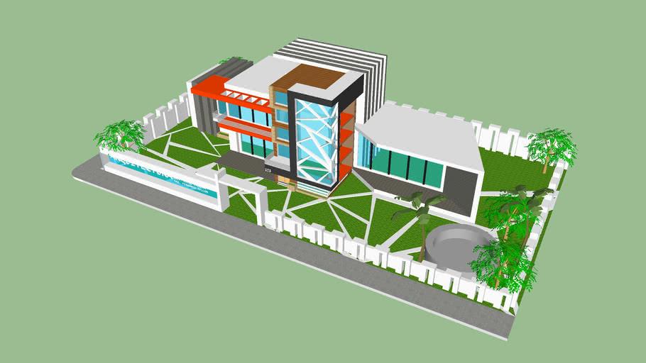 Modelo de Fachada y jardineria (idea formal)