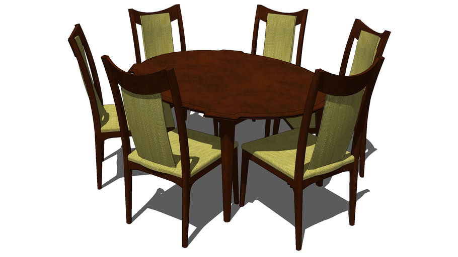 Mid Century Modern Dining Table 3d Warehouse