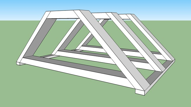 dog house roof frame