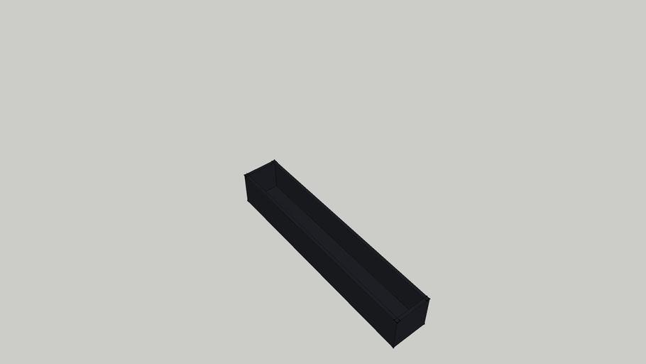 Powder Coated Planter 1200 x 200 x 200 mm
